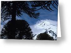 Volcano In Patagonia, Argentina Greeting Card