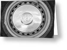 Volkswagen Vw Wheel Emblem Greeting Card