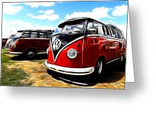 Vw Micro Bus Greeting Card