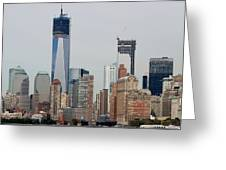 1 W T C And Lower Manhattan Greeting Card