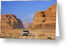 Wadi Rum In Jordan Greeting Card by Robert Preston