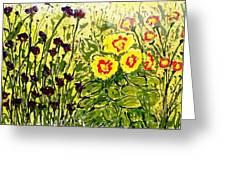 Walls Of Heavenly Flowers Greeting Card