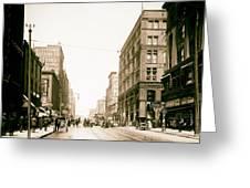 Walnut Street - Kansas City 1906 Greeting Card
