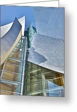 Walt Disney Concert Hall Vertical Los Angeles Ca Greeting Card