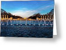 Washington D.c. - Fountains And World Greeting Card