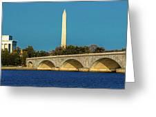 Washington D.c. - Memorial Bridge Spans Greeting Card