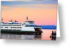 Washington State Ferry Greeting Card