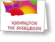 Washington State Map Collection 2 Greeting Card
