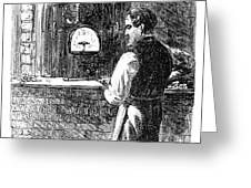 Watchmaker, 1869 Greeting Card
