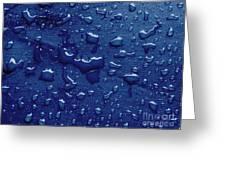 Water Drops On Metallic Surface Greeting Card