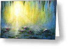 Water Lilies At Sunrise Greeting Card