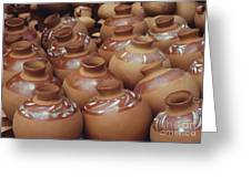 Water Pots Greeting Card by Sue Sill