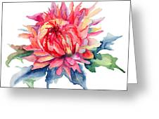 Watercolor Illustration With Beautiful Flowers  Greeting Card