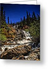 Waterfall In Jasper 1 Greeting Card