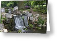 waterfall in park Klarenbeek in Arnhem Netherlands Greeting Card