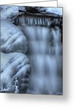 Waterfall Near Johnston Canyon Alberta Greeting Card