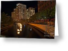 Waterfire.  Providence Rhode Island Greeting Card