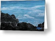 Wave - Vague - Ile De La Reunion - Reunion Island Greeting Card by Francoise Leandre