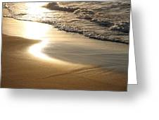 Waves Washing Onto Corsican Beach Greeting Card