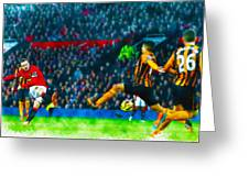 Wayne Rooney Of Manchester United Scores Their Second Goal Greeting Card