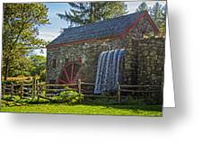 Wayside Inn Grist Mill Greeting Card