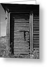 Weathered Door With Hanging Chain Greeting Card