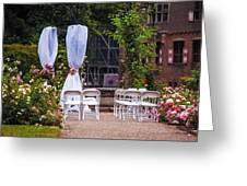 Wedding Arrangement In De Haar Castle. Utrecht Greeting Card