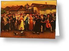 Wedding In Jewish Quarter. Greeting Card
