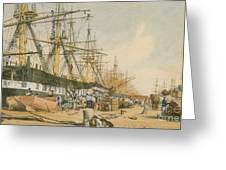 West India Docks From The South East Greeting Card