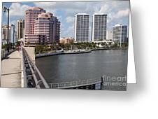 West Palm Beach Skyline Greeting Card