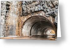 West Tunnel On Going To The Sun Road Greeting Card