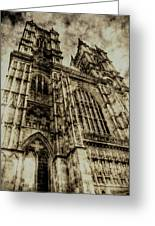 Westminster Abbey London Vintage Greeting Card