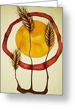 Wheat And Sun Greeting Card