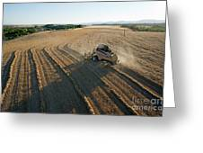 Wheat Harvest In Provence Greeting Card