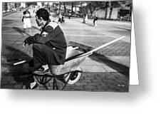 Wheel Barrel Man Greeting Card
