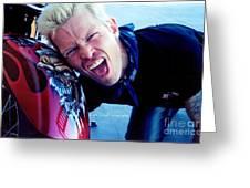 Billy Idol - Whiplash Smile Greeting Card