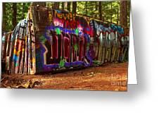 Whistler Train Wreck Box Car Greeting Card
