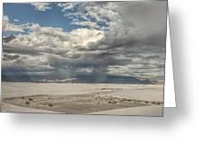 White Sands Rain Greeting Card