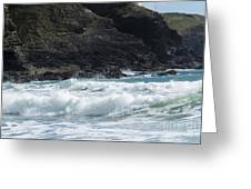 White Surf Greeting Card