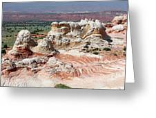 Whites Sandstone Buttes Greeting Card