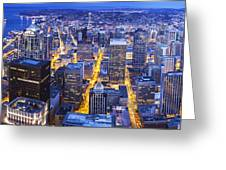 Wide Seattle Cityscape Greeting Card