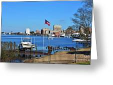 Wilmington Waterfront Skyline Greeting Card