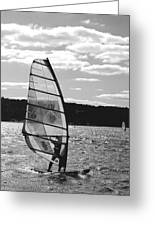 Wind Surfer Bw Greeting Card
