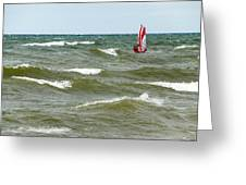 Wind Surfing Greeting Card
