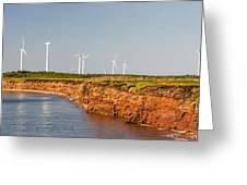 Wind Turbines On Atlantic Coast Greeting Card by Elena Elisseeva