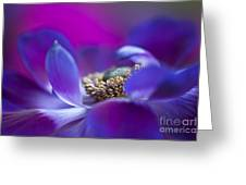 Windflower Waves Greeting Card by Jacky Parker