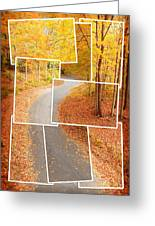Winding Alley In Fall Greeting Card