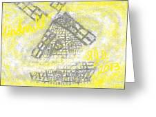 Windmill Greeting Card by Joe Dillon