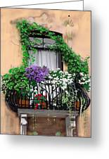 Window Flower Box Greeting Card