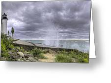Winds At Point Betsie Greeting Card